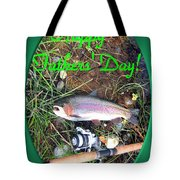 Happy Father's Day Tote Bag by Joyce Dickens