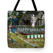 Happy Halloween-try Not To Scream Tote Bag by EricaMaxine  Price