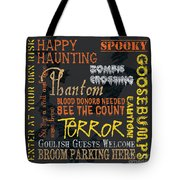 Happy Haunting Tote Bag by Debbie DeWitt