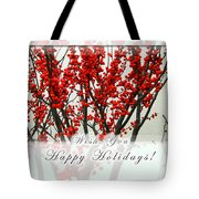 Happy Holidays Tote Bag by Xueling Zou