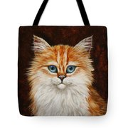 Happy Kitty Tote Bag by Crista Forest