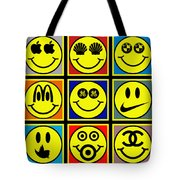 Happy Logos Tote Bag by Tony Rubino