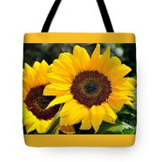 Happy Sunflowers Tote Bag by Kaye Menner