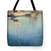 Harbor Reflection Tote Bag by Sharon Weaver