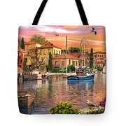 Harbour Sunset Tote Bag by Dominic Davison