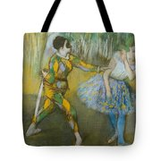 Harlequin and Columbine Tote Bag by Edgar Degas