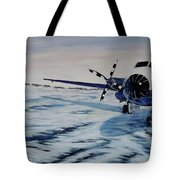 Hawker - Airplane On Ice Tote Bag by Marilyn  McNish