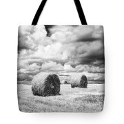 Haybales Uk Tote Bag by Jon Boyes