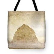 Haystack Rock Tote Bag by Carol Leigh
