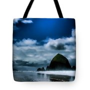 Haystack Rock III Tote Bag by David Patterson