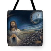 He Knew Yet He Went Through Tote Bag by Ricardo Chavez-Mendez in Collaboration with Joyce Hodges
