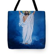 He Walked on Water Tote Bag by Sharon Duguay