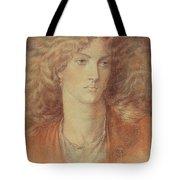 Head Of A Woman Called Ruth Herbert Tote Bag by Dante Charles Gabriel Rossetti