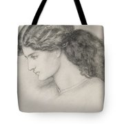 Head Of A Woman Tote Bag by Dante Gabriel Charles Rossetti
