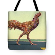 Head-on Chicken Tote Bag by James W Johnson