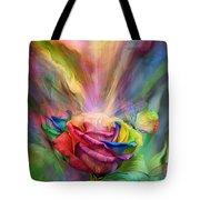 Healing Rose Tote Bag by Carol Cavalaris