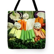 Healthy Veggie Snack Platter - 5d20688 Tote Bag by Wingsdomain Art and Photography