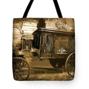 Hearse Poster Tote Bag by Crystal Loppie