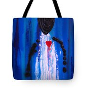Heart And Soul - Angel Art Blue Painting Tote Bag by Sharon Cummings