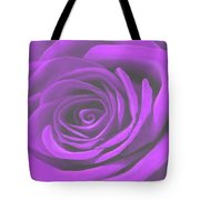 Heart Of A Purple Rose Tote Bag by SophiaArt Gallery