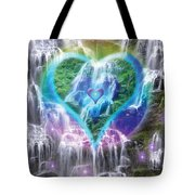 Heart Of Waterfalls Tote Bag by Alixandra Mullins