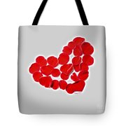 Heart Petals Tote Bag by Cheryl Young