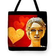 Hearts Tote Bag by Chuck Staley
