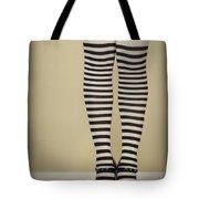 Hearts N Stripes Tote Bag by Evelina Kremsdorf