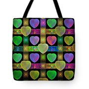 Hearts Tote Bag by Sandy Keeton