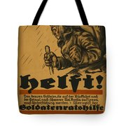 Help Tote Bag by Louis Oppenheim