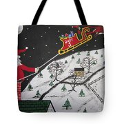 Help Santa's Stuck Tote Bag by Jeffrey Koss