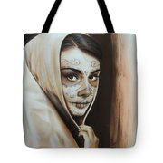 'Hepburn De Los Muertos' Tote Bag by Christian Chapman Art