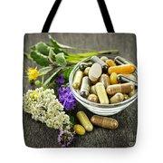 Herbal Medicine And Herbs Tote Bag by Elena Elisseeva