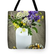 Herbal Medicine And Plants Tote Bag by Elena Elisseeva