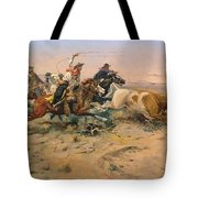 Herd Quit Tote Bag by Charles Russell