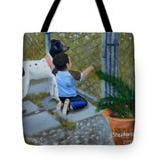 Here's The Plan Tote Bag by Nina Stephens