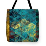 Hexagon Fractal Art Panorama Tote Bag by Andee Design