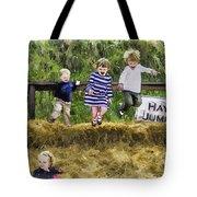 Hey Jump Tote Bag by John Haldane