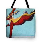 High Tailing It - Jackrabbit Tote Bag by Joe  Triano