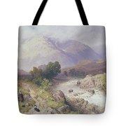 Highland Scene Near Dalmally Argyll Tote Bag by Myles Birket Foster