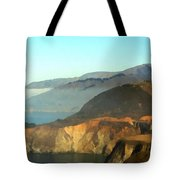 Highway One Bixby Bridge Watercolor Tote Bag by Barbara Snyder