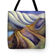 Highway With Fog Tote Bag by Jen Norton