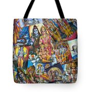 Hindu Deity Posters Tote Bag by Tim Gainey