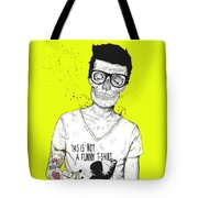 Hipsters Not Dead Tote Bag by Balazs Solti