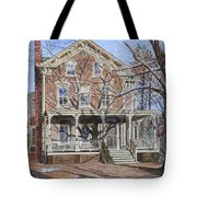 Historic Home Westifled New Jersey Tote Bag by Anthony Butera