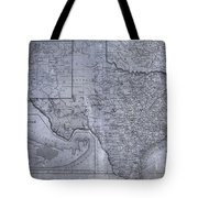 Historic Texas Map Tote Bag by Dan Sproul