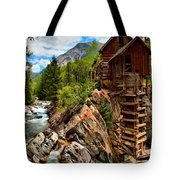 History On The Edge Tote Bag by Adam Jewell