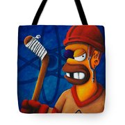 Hockey Homer Tote Bag by Marlon Huynh