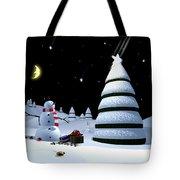 Holiday Falling Star Tote Bag by Cynthia Decker