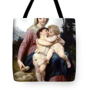 Holy Family Tote Bag by William Bouguereau